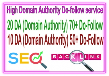 Do 30  Domain Authority 20 DA70 + 10 DA50 to Rank your Google
