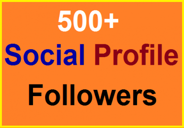 500+Social Profile Followers High Quality Fully Safe