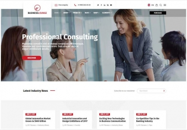 Create Professioal Wordpress Website Design Or Blog
