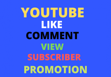 All Package YouTube promotion  vai social media marketing and instant delivery