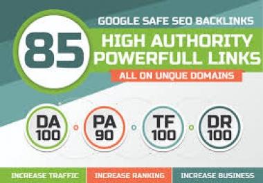 Build 85 Unique Domain SEO Backlinks On Da Pa Sites