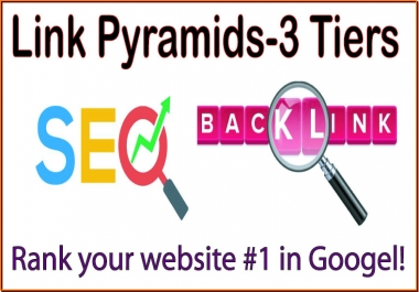 Google Link Pyramids 3 Tiers of backlinks-forum & social networks-Mix profiles backlinks-Social networks profiles