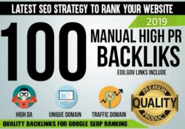 Provide 100 Seo Backlinks On High Da Pa Website