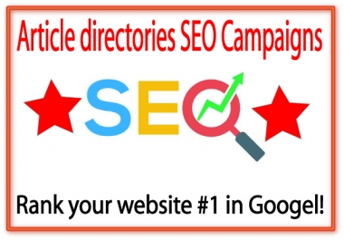 Article directories Link Pyramids- 450.edu Backlinks-3000 Article directories backlinks
