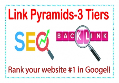 Best Link Pyramids 3 Tiers of backlinks-edu-Wiki articles Backlinks-Social networks profiles
