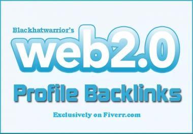 Create 150 Web 2,0 Profile Backlinks On High Page Rank Sites