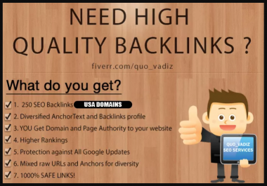 SEO 250 High Quality Backlinks Improves SEO In 2019