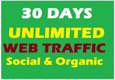 Get UNLIMITED Social & Organic WEB TRAFFIC