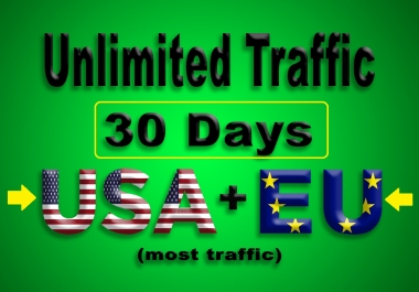 Get UNLIMITED Real Web Traffic From US and EU