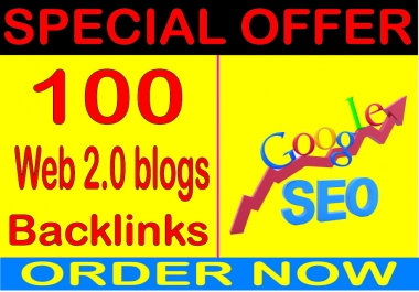 Mega SEO-I will do 100 Web.20  PR9 Safe SEO High Pr Backlinks