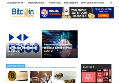 Publish Guest blog on BitcoinWarrior DA 46 with Dofollow Links