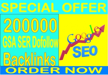 Top Powerful SEO- 200,000 GSA SER Dofollow Backlinks increase your ranking in Google search results