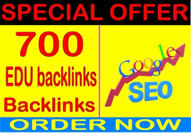 Top SEO Service- 700 High Quality .Edu Backlink (Dofollow and Nofollow) For Search Dominate