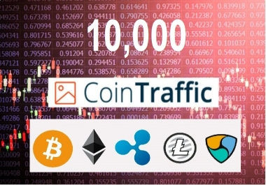 10,000 Effective Crypto Currency Keyword Targeted Web Traffic For Your Crypto Website