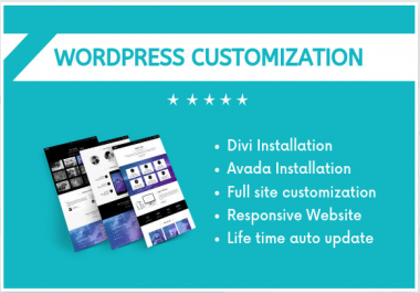 install divi or avada theme and design, redesign or customize your wp website