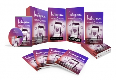 I will give you Instagram Marketing Secrets, Video Course & Reselling Tools