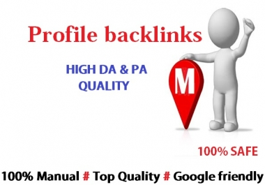 Give You 65 High Quality Profile Backlinks