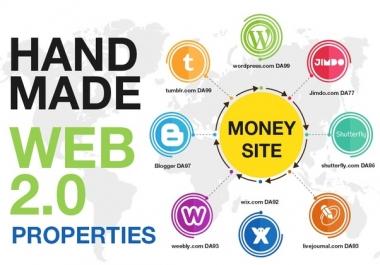 Manually provide 20+ high PR top WEB 2.0 backlinks WHITE HAT