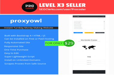 ProxyOwl - Automated Proxy Scraper Script