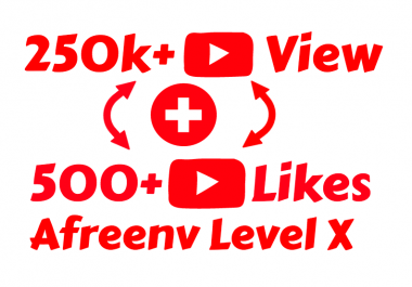 I will add Fast 250K Youtube View's and 500+ Youtube Like's