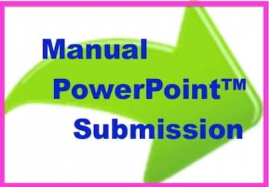 20 PowerPoint Slides Created + Submitted to 20 PR 4-9 Slide Share Sites Manually