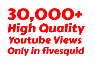 Super Fast 30000+ High Quality Youtube vie ws