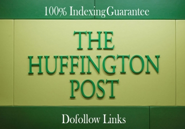 We will Write and publish an article on HuffingtonPost.com