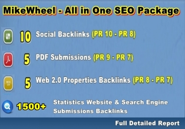 create MikeWheel All in One Special Seo Package with High PR Sites