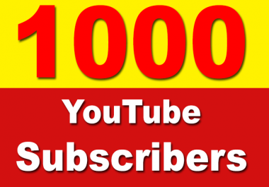 Add 1000+ YouTube Subscribers Non Drop, Safe & Fast