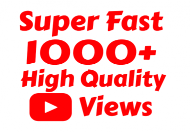 i will add 1000  High Quality Youtube view