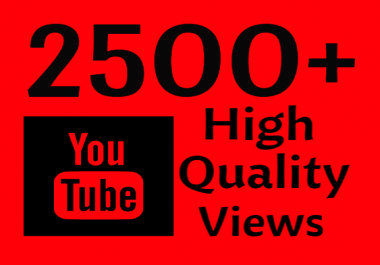 I will Add Super Fast 2500 High Quality YouTube views