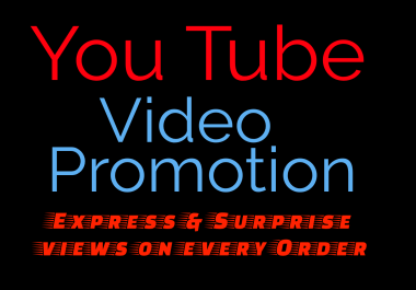 Organic & High Quality YouTube PROMOTION