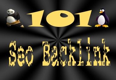 create PENGUIN and PANDA safe 101 backlinks, 30DA15+, 30DA30+, 20DA40+, 18DA60+, 3DA80+