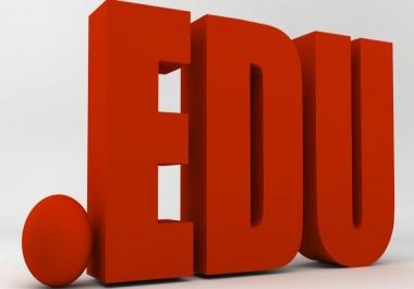 Provide 150 .edu High Authority Backlinks for $1