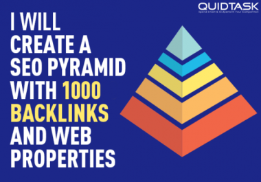 SEO Pyramid - 1000 PBN Backlinks And Social Signals From PR9 Networks With Link Juice for $3
