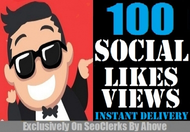 Start Instant 100 Followers 100 Likes or Views Or Reactions In Any Social Media
