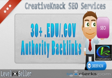 30+ .EDU/.GOV High Authority Backlinks only