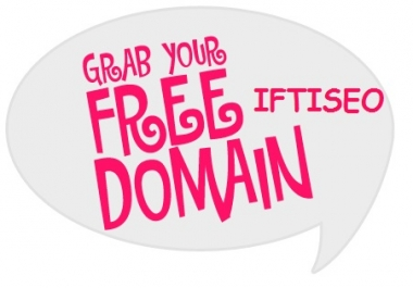 I want people to join my free domain giveaway