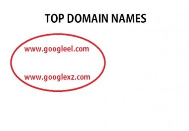 SELL GOOGLEEL. COM AND GOOGLEXZ. COM top domain namesW