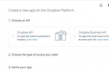 build dropbox API PHP Simple APP