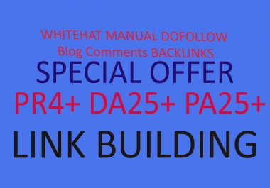 Provide 50 High PR DA PA Backlinks Only 5 for your website