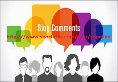 Do High Authority 40 Niche Relevant Blog Comment for 5