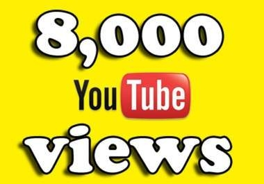 Add 8000 to 9000 High Quality Youtube views for 3