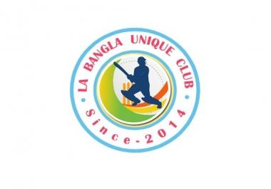 Cricket UNIQUE CLUB Logo Design