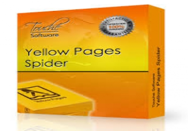 I need a yellow page spider softwar with license