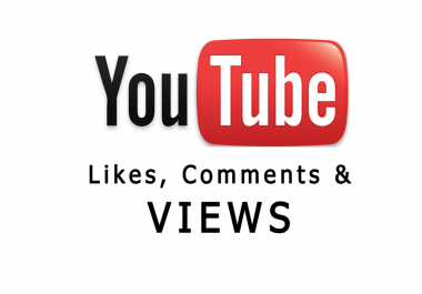 1000 YOUTUBE views 30 comments and 100 likes