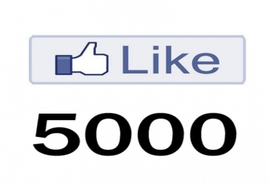 I need 5000 quality fan page likes within 4 days