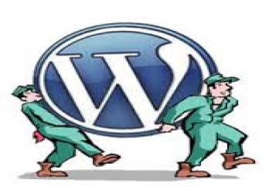 Migrating wordpress website