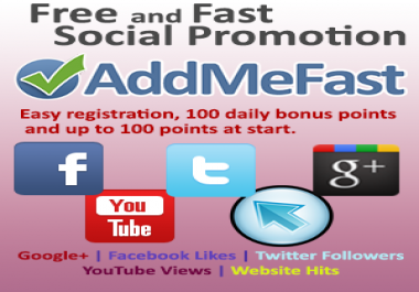 ADDMEFAST POINTS 8000+ New Account Every Week