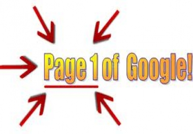 i want my website on google first page